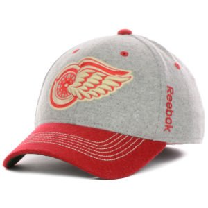 (Reebok Detroit Red Wings 2014 Winter Classic Player Structured Flex Hat - Gray/red (L/XL))