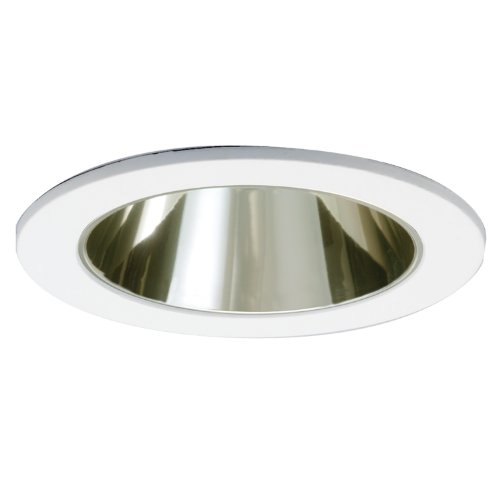 HALO Recessed 1421CG 4-Inch Trim with Champagne Gold Reflector, White - Gold Cone Trim