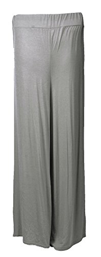 Fast Fashion Mujer Pantalones Plain ancho Pierna abgefac Kelt Palazzo gris