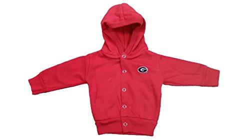 Georgia Bulldogs NCAA Toddler Hooded Sweatshirt Snap Jacket (4 (Bulldogs Ncaa Spring)