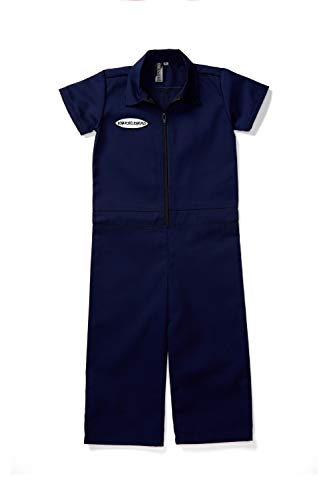 Born to Love Kids Coverall for Boys, Mechanic Halloween Jumpsuit Costume Baby Outfit (7t, Navy) ()