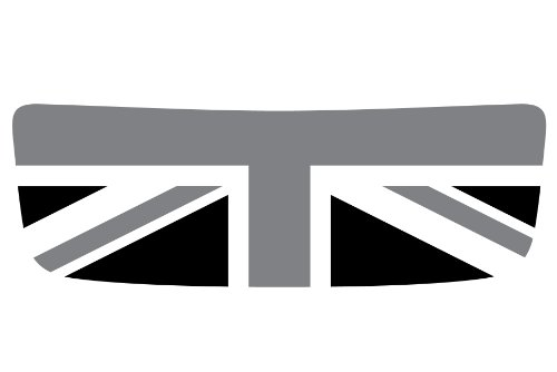 The Pixel Hut gs00066 Union Jack Black/Grey/White Hood Scoop Graphic for MINI Cooper S R56 (Scoop Union)