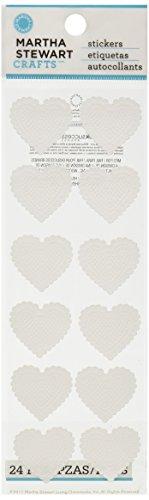(Martha Stewart Crafts Stickers, Dimensional White Hearts)