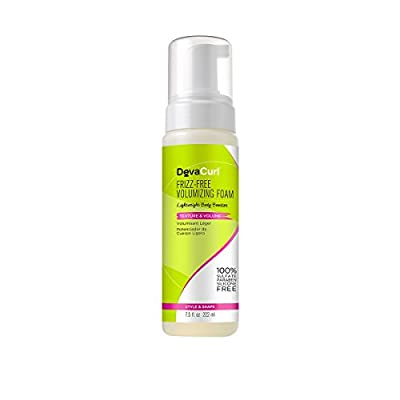 DevaCurl Frizz-Free Volumizing Texture Foam, Lightweight Body Booster for Fullness and Frizz Protection