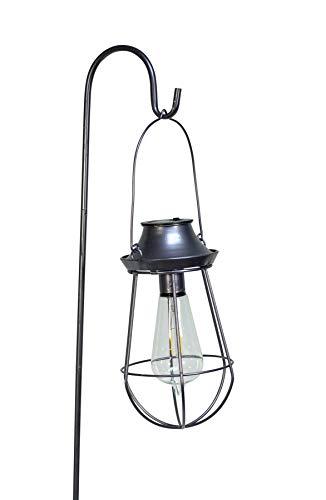 Echo Valley 4529PK2 EDI-Sol Nautical Pendant Solar Lantern with Shepherd's Hook, Silver (Pack of - Sol Lighting Solar