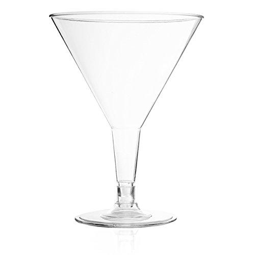 6oz Clear Plastic Martini Cups