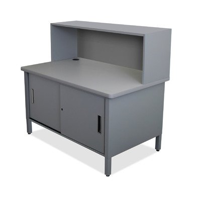 Mailroom Utility Table with Cabinet Finish: Slate Gray by Marvel
