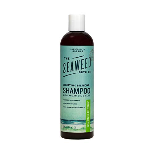 The Seaweed Bath Co. Balancing Shampoo, Eucalyptus and Peppermint, Natural Organic Bladderwrack Seaweed, Vegan and Paraben Free, 12oz