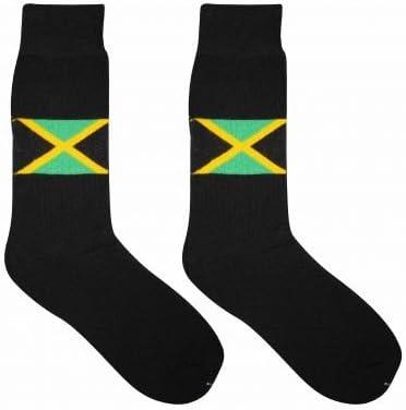 JAMAICA Par de Calcetines de Adultos de Bandera: Amazon.es ...
