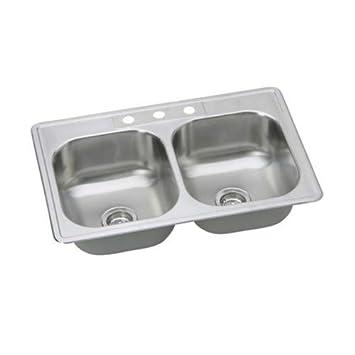 Proflo Pfsr332263 33 Double Basin Drop In Stainless Steel Kitchen