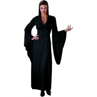 [Hooded Robe Costume - Large - Dress Size 12-14] (Black Full Cut Robe Costumes)