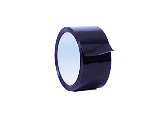 WOD OPP-20C Black Carton Sealing Tape, Strong Heavy-Duty Industrial Shipping Packaging Tape for Moving, Office, Storage (Available in Multiple Sizes & Colors): 2 in. Wide x 55 yds. 2 mils Thick
