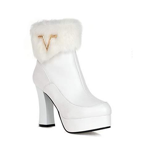 Boots Ezr00477 Platform Mule Womens Aimint Fringed Urethane Bianco wqXvw4g