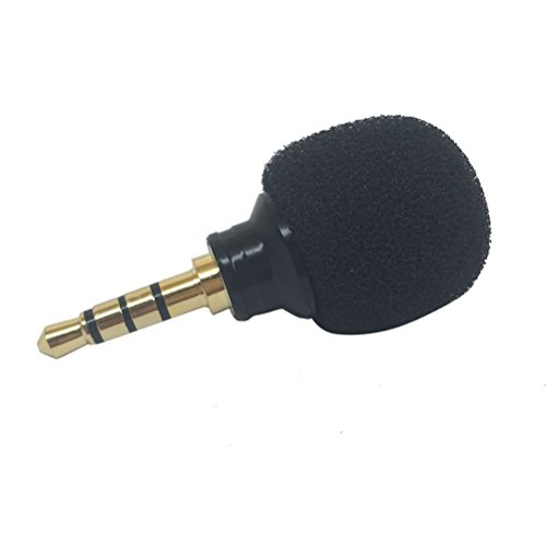 Tinksky Mini Stereo Microphone Mic for Voice Recording Mobile Phone Laptop Internet Chatting ( Black )