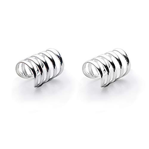 (SLUYNZ 925 Sterling Silver Multi Circles Cuff Earrings for Women Teen Girls Clip Ons Earrings Cartilage Earrings)