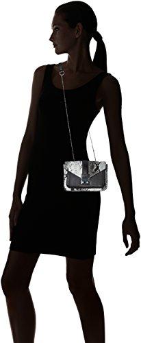 PIECES Damen Pcydon Cross Body Umhängetasche, 8x13x17 cm Mehrfarbig (Black)