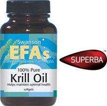 100% Pure Krill Oil 500 mg 60 Sgels par Swanson AGE