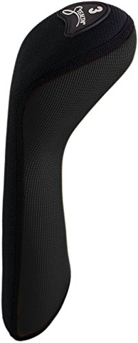Stealth Club Covers 39010 Fairway Wood 3 Golf Club Head Cover, Black Solid (Clubs 3 Wood)