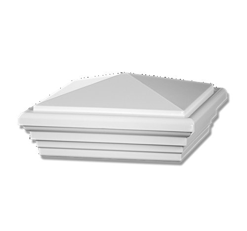 Veranda White 4 in. x 4 in. Plastic Post Sleeve Cap