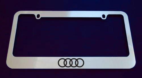 Audi 4 Rings Logo Chrome License Plate Frame