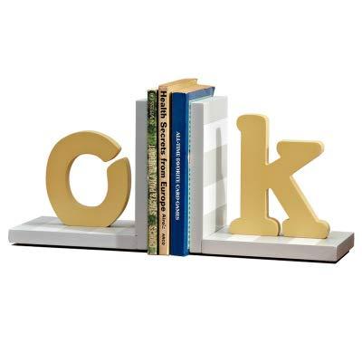 Wood Sailboat/Letters/Rainbow/Star Bookend Nursery Room Kids Room Decorative Book Rack Baby Kids Gift Idea (OK)