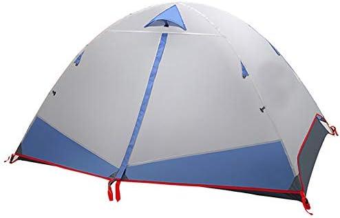 Camping Rugzak Tent, Camping Tenten Voor Familie 2-3 Persoon, Ultralight Backpacking Tent Om Te Wandelen Kamperen Buiten, Waterdichte Dubbellaagse Koepeltent,Blue