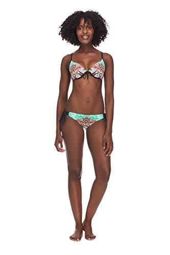 e Side Med Bikini Bottom Swimwear, Vivi Paisley Print, X-Large ()