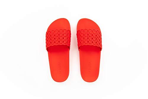 Zaxy Mesh Women's Slide Sandal, Red (9 US)