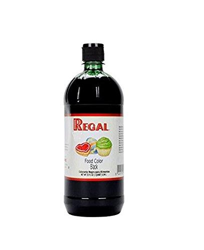Liquid Food Coloring, 32 Ounces Perfect for Cakes, Dough, Batter, Piping Gel, Fondant, and Unique Confections (Black)