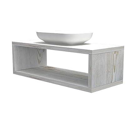 Mensola lavabo con vano portaoggetti, anche su misura, in 9 diverse  colorazioni design 100% made in italy, incluse staffe a scomparsa, per  bagno e ...