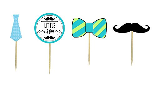 Little Man Themed Cupcake Toppers]()