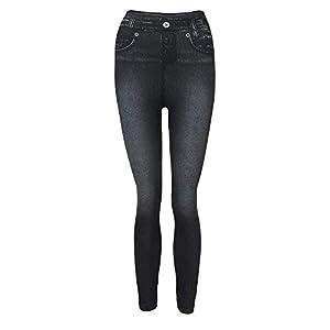 PXiong Women Denim Pants Slim Leggings Slim Jeans Plus Size Pocket Trousers
