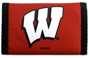 Rico Industries NCAA Wisconsin Trifold Wallet Nylon