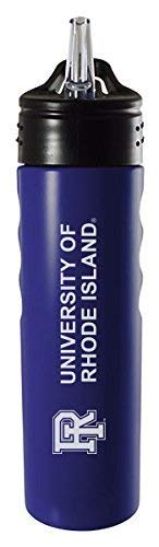 (LXG, Inc. University of Rhode Island-24oz. Stainless Steel Grip Water Bottle with Straw-Blue )