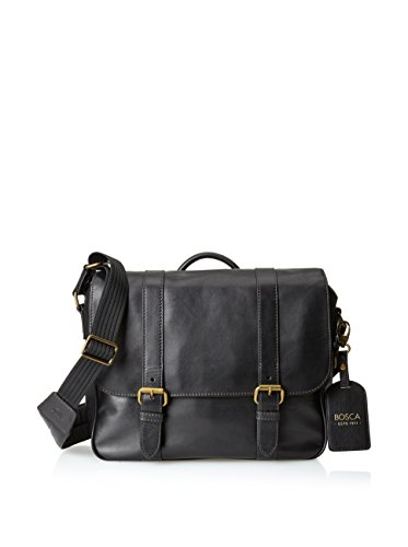 [Bosca Men's Taconni - Messenger Bag Black Messenger Bag] (Bosca Bag)