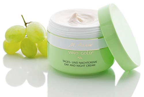 M. Asam, Vino Gold, Day and Cream, Antioxidant Complex with OPC, Resveratrol, Cold-Pressed Grape seed Oil, Vitamin C and E, Jojoba Oil. For Face, Neck and Decollete - 50 ML