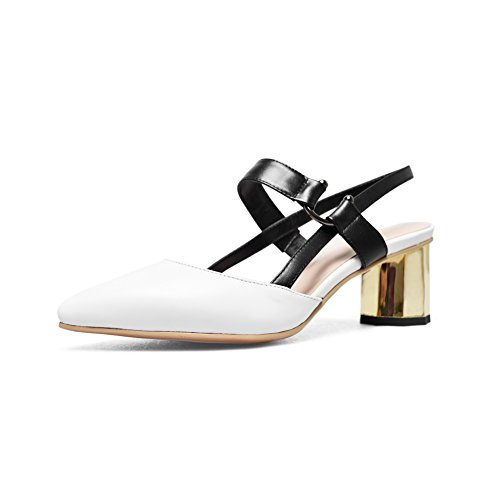 1TO9 Womens Business Baguette-Style Mini-Size Urethane Sandals MJS03101 White
