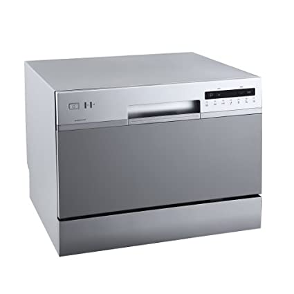 EdgeStar DWP62SV 6 Place Setting Energy Star Rated Portable Countertop  Dishwasher   Silver