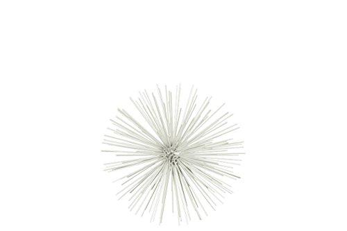 Urban Trends Metal Sea Urchin Ornamental Sculpture Decor SM Coated Finish White, Small