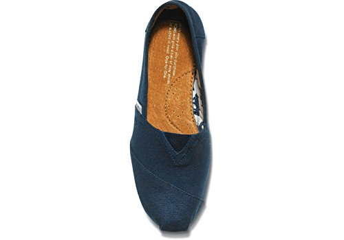 Toms Womens Navy Canvas Classic 001001b07-nvy (dimensioni: 5.5)