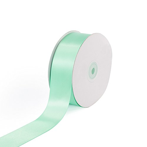 Creative Ideas Solid Satin Ribbon, 1-1/2-Inch by 50 Yard, Mint Green, Solid -
