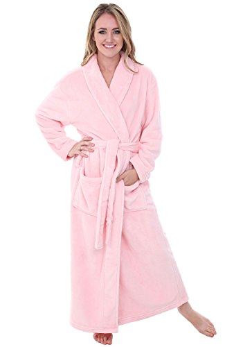 Alexander Del Rossa Women's Plush Fleece Robe, Warm Bathrobe, Large XL Pink Rose Quartz (A0117RSQXL)