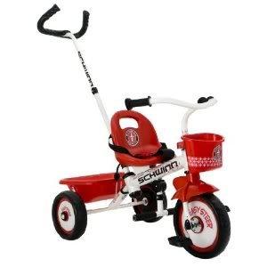 Toy / Game Heavy Duty Schwinn Easy Steer Tricycle, White - Heavy Duty Tricycle Frame With Steering System