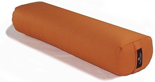 Hugger Mugger Standard Junior Yoga Bolster, Pumpkin
