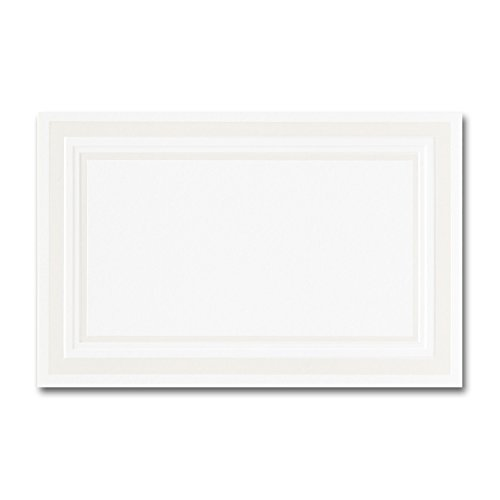 Pearl Border Place Card - Fine Impressions Fold-Over Place Cards, Hi-White with Embossed Pearl Border, 250 Count (RRPCPEMBW)