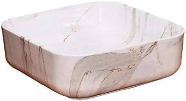 Minmin バスルームの洗面小さなアパートの家シンプルな芸術セラミックバスルームの洗面台バルコニー洗濯プールバスルーム洗面40x14cm 芸術流域 (Size : 40x14cm)