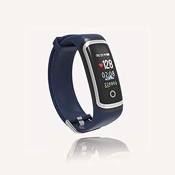 QUMOX Smartwatch Presión Arterial Monitor de Ritmo Cardíaco Podómetro Sports Fitness Tracker M4, Azul