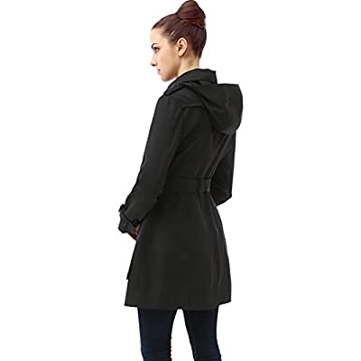 BGSD Women's Leah Hooded Mid Length Trench Coat: Clothing