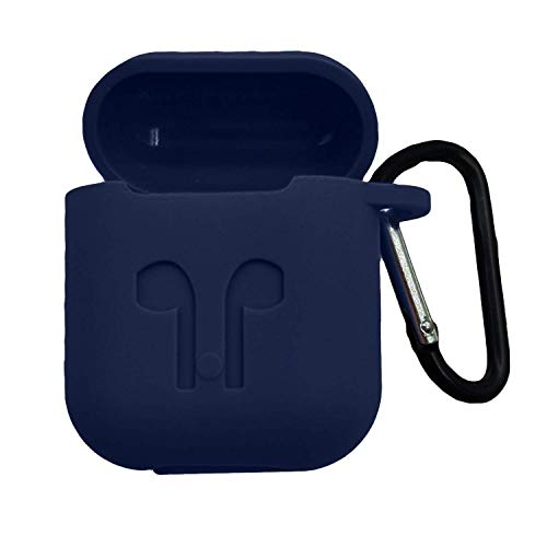 Eagle Mobile Shop Eagle Mobile (AIRPOD NOT Included) EARPOD CASE Shock Proof Protection Sleeve Skin Carrying Bag Box Cover Case for Apple AirPods Wireless Headset Earphone (Blue)