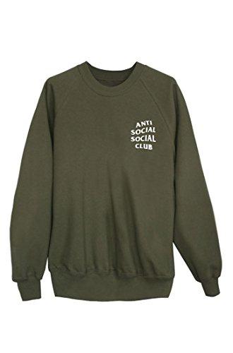 ANTI SOCIAL SOCIAL CLUB Sweater Pulli Pullover Hoody Bluse Sweatshirt khaki AW